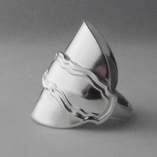 Genuine Handmade Antique Art Nouveau Solid Sterling Silver Spoon Ring Date 1935